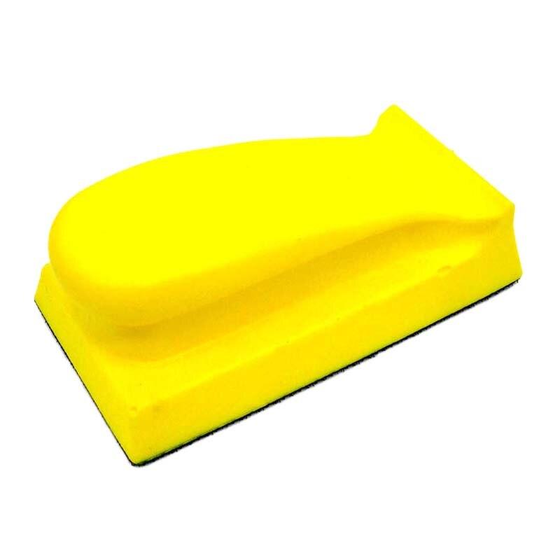 70X120Mm Foam Hand Sanding Block Hand Pad Polishing Pad For Hook And Loop Disc