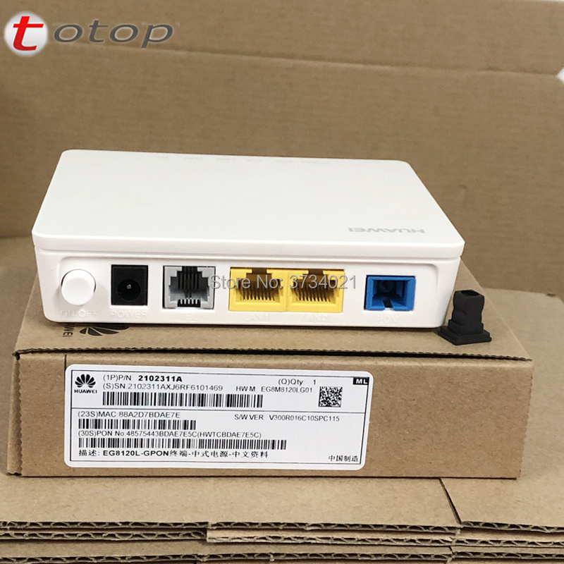 Huawei Echolife EG8120L GPON ONU ONT 1GE+1FE+1TEL Fiber Optical Modem Router, English Firmware, SC UPC / SC APC Interface