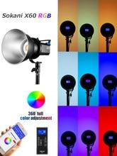 Sokani x60 v2 rgb led luz de vídeo 5600k luz do dia 80w photo studio iluminação para fotografia ao ar livre estúdio de gravação de vídeo