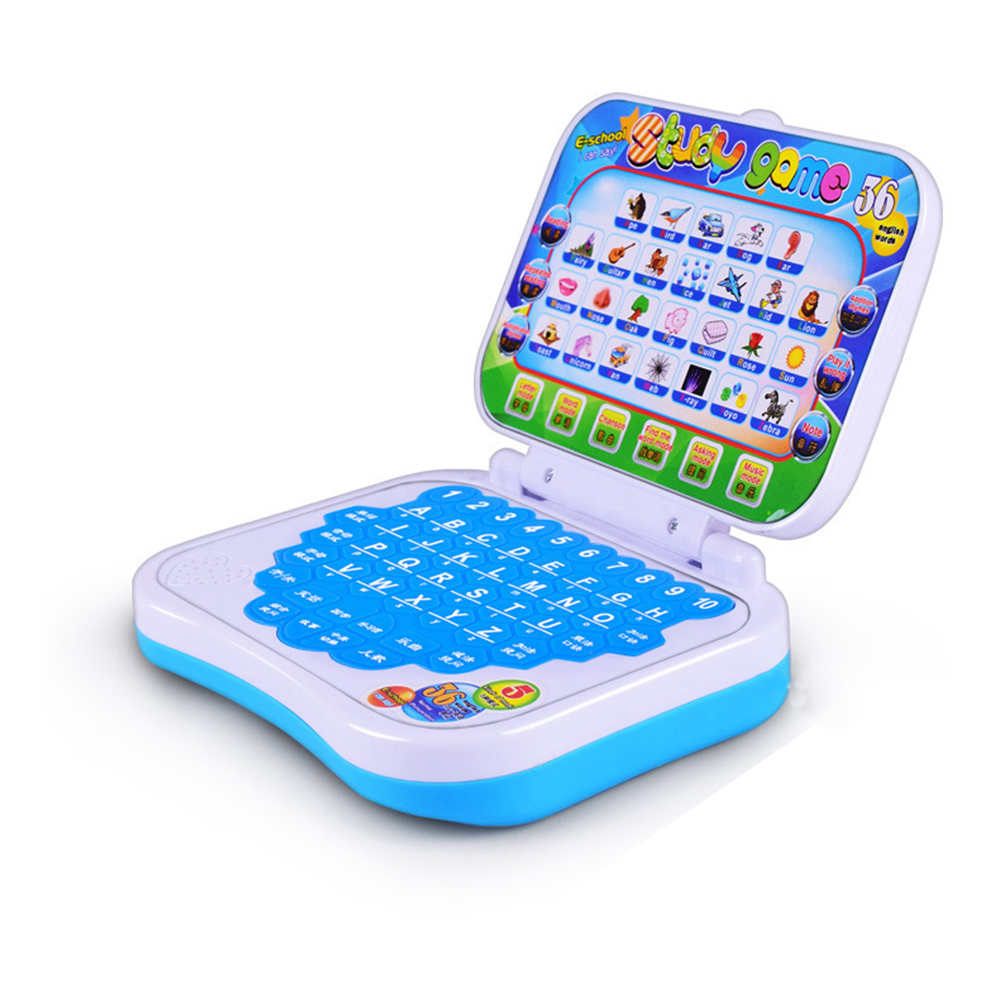 Study Toy Baby Laptop Computer Game Study Toy Kids Pre School Educational Learning Chinese / English Study Toy image