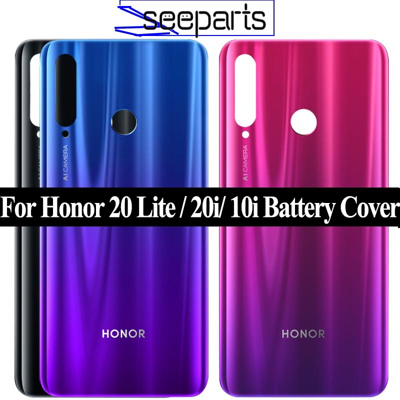 For Huawei Honor 20 Lite Battery Cover Door Back Housing Rear Case For Honor 20i Battery Door Replacement Parts Honor 10i Cover