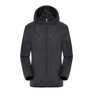 Image 3 - Men Women Adult Raincoat Men Women Casual Jackets Windproof Ultra Light Rainproof Windbreaker Top Environmental Rain Coat