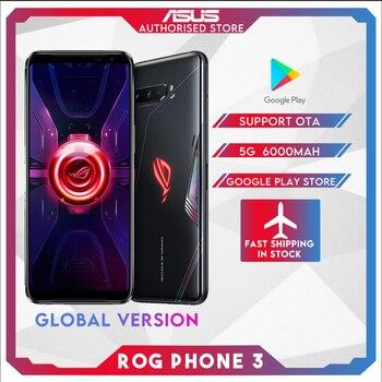 Перейти на Алиэкспресс и купить Оригинальный ASUS ROG телефон 3 глобальная версия ZS661KS 5G Смартфон Snapdragon 865/865Plus NFC Android Q OTA обновление игровой телефон ROG3