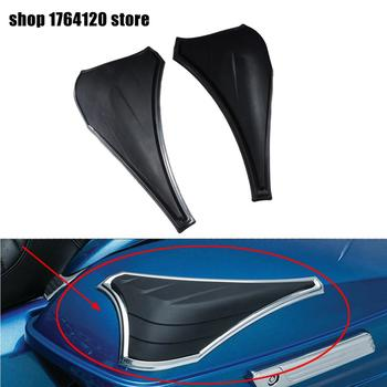 2PCS Black Motorcycle Saddlebag Scuff Protectors For Harley Touring Electra Glides Road Glide Road King Street Glide 14-18
