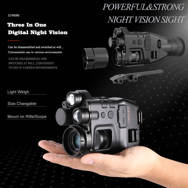 Multi-Functional 850nm+940nm Double Infrared Digital Night Vision Aim Sight Camera 24X Zoom Hunting Riflescope for Day & Night 4