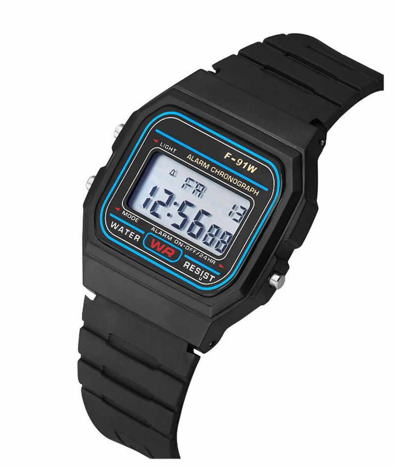 女性デジタル腕時計 2019 男性 LED ドレスゴールデン腕時計レロジオデジタル Esportivo 防水スポーツ腕時計 Relojes デ Mujer