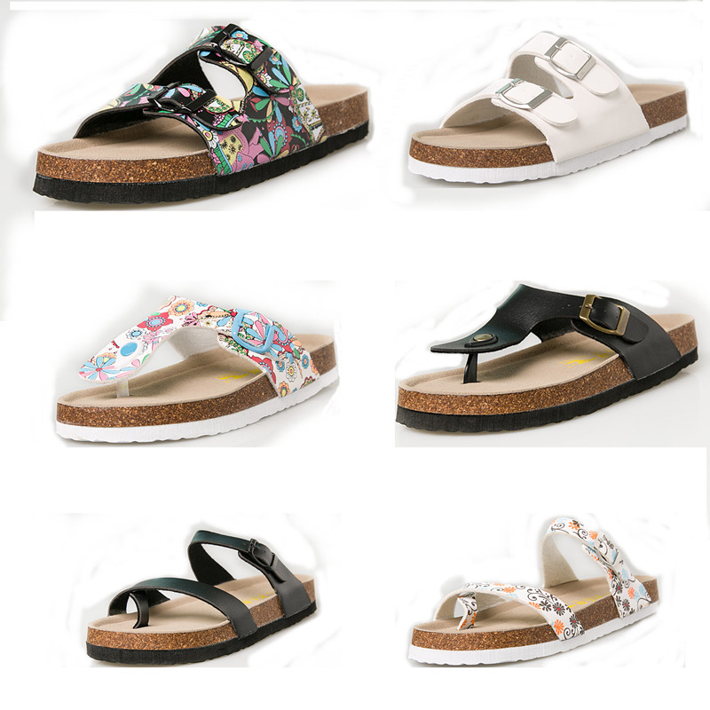 Hot Sale Summer Couple Slippers 2019 New Anti-skid Cork Slippers Flat Slippers Beach Sandals Women Sandals 35-44