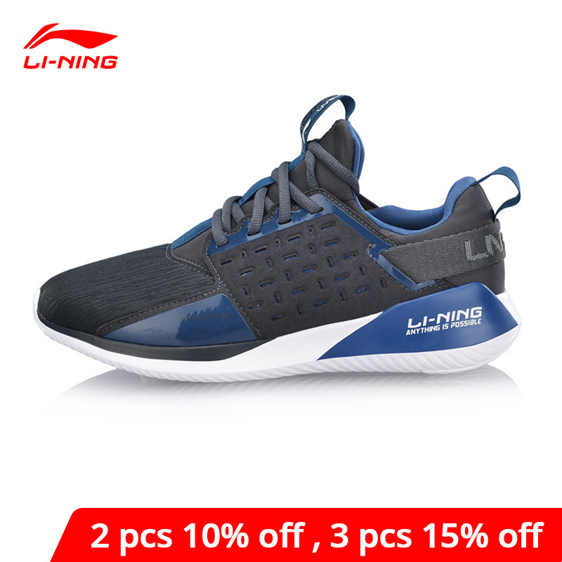Li-Ning Men COLOR ZONE Cushion Running Shoes Light Weight Breathable LiNing Li Ning Sport Shoes Fitness Sneakers ARHN079 XYP821