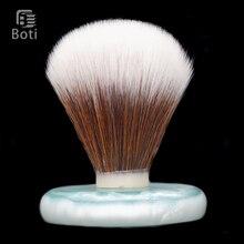 Beard-Care-Kit Shaping-Tool Reddish Brush-Men Boti Knot Synthetic-Hair Brown White And
