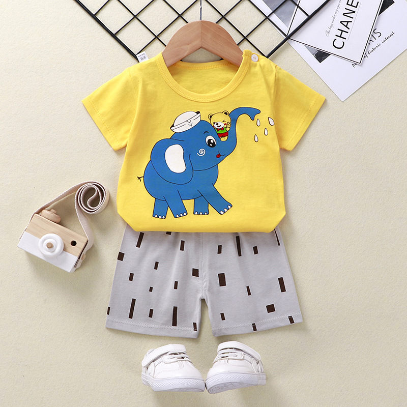 Boys Cartoon Animal T Shirt Cute Cotton T-shirt Short Sleeve Outfit  Boy Streetwear Clothes for Toddler Infant Kids Suit Summer 4