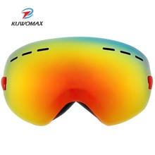 Snowboard Goggles Glasses Protection Women Anti-Fog UV400 KUWOMAX Ski-Mask. Double-Layers
