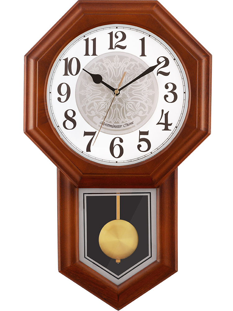 Large Wood Wall Clock Vintage 3d Pendulum Clock Wall Watch Mechanism Chinese Style Silent Loft Relogio Parede Home Decor SC288