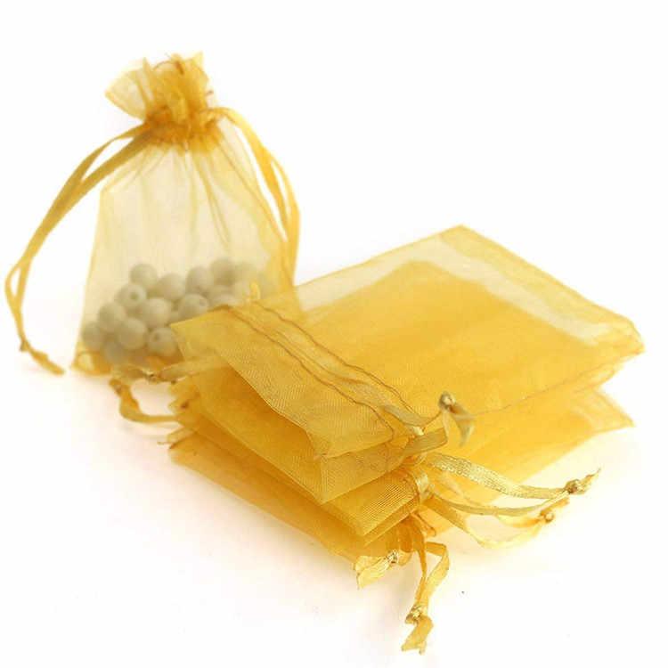 10pcs Transparant Organza Tassen Kerst Halloween Geschenkdoos Verpakking Gift Bags Bruiloft Snoep Doos Chocolade Tassen