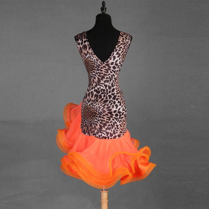 Image 2 - Sexy New Latin Dance Dresses Women Performance Salsa Rumba cha cha Tango Dress CostumesLatin