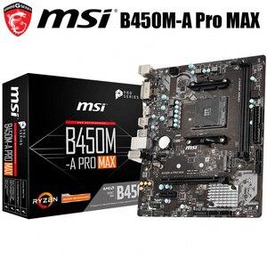 NEW MSI B450M-A PRO MAX Motherboard Socket AM4 DDR4 AMD Ryzen 32GB AMD B450 Desktop MSI B450 Mainboard B450 M.2 PCI-E 3.0 AM4