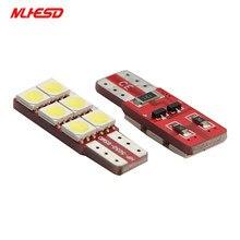 10 pces t10 5050 lâmpadas-luz estacionamento-largura lâmpadas 194 168 w5w 6smd lâmpadas led licença-placa-luzes lâmpadas interiores dc12v