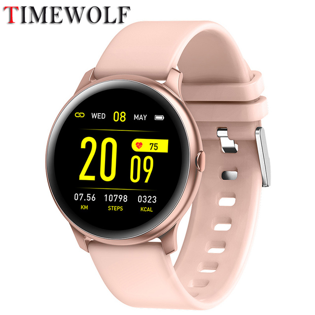 Timewolf חכם שעון נשים עמיד למים IP68 Smartwatch מרחוק מוסיקה/תמונה לחץ דם חכם שעון עבור Apple Iphone אנדרואיד