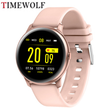 Timewolf Women Smart Watch 2020 Ip68 Waterproof Smartwatch Mujer Blood Pressure Smart Watches For Iphone Ios Android Phone KW19