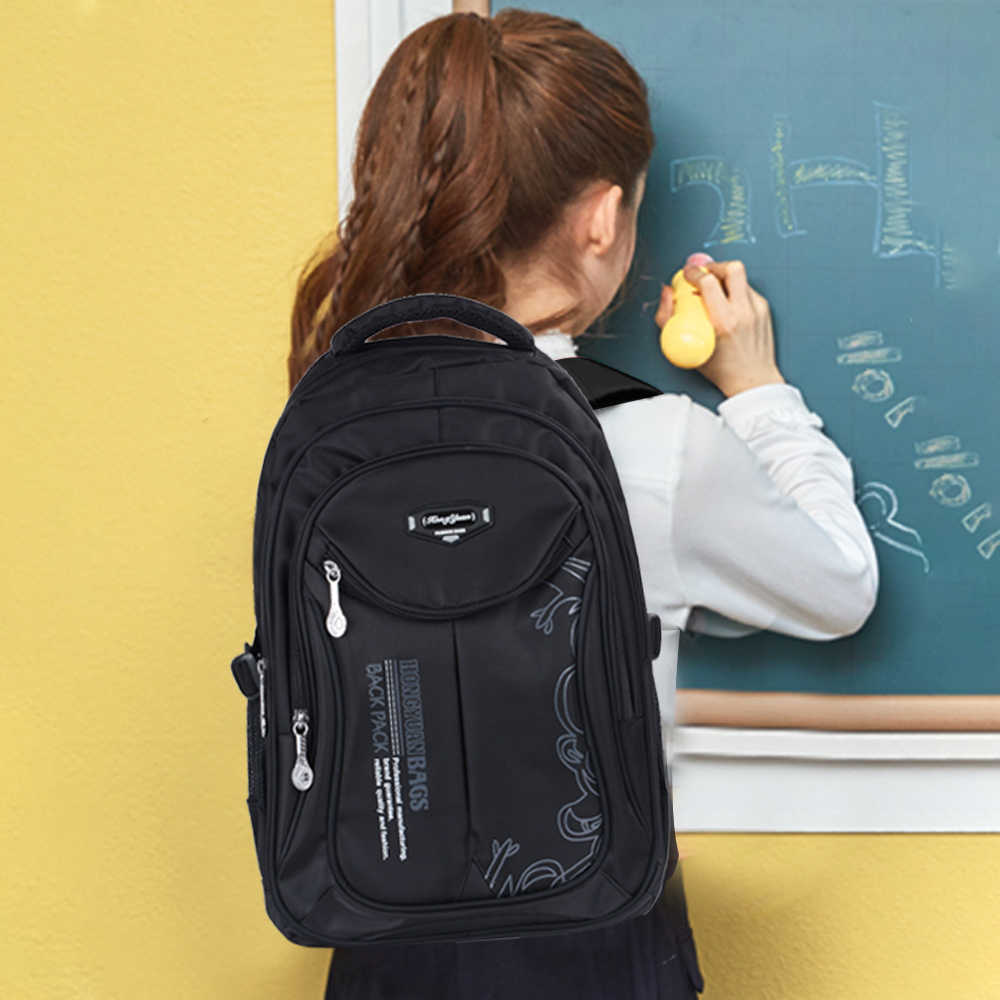 Детский водонепроницаемый ранец первичный детский школьный рюкзак для девочек унисекс классический ноутбук Прочный Школьный ортопедический рюкзак