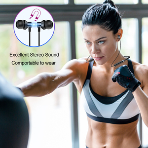 Image 5 - ROCK Sport Magnetic Bluetooth V5.0 Earphone Wireless Earphones Magnet Earbuds With Microphone Stereo Auriculares Neckband