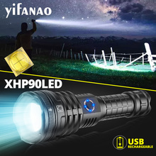 High Power LED Flashlight With 4 Core P90 Lamp bead Military grade workmanship Glare Torch IPX-6 Waterproof Light By 26650 18650