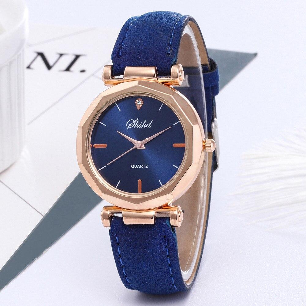 Women Watch Fashion Leather Casual Luxury Analog Quartz Crystal Wristwatch Horloges Vrouwen Montre Femme Marque De Luxe 2019