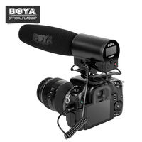 BOYA BY DMR7 Integrated Flash Microphone Broadcast Mic with LCD Display 50Hz 20kHz Micro for Canon nikon DSLR Video DV Camera 5d