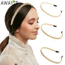 Awaytr метал покрытый золотом серебром головные украшения из