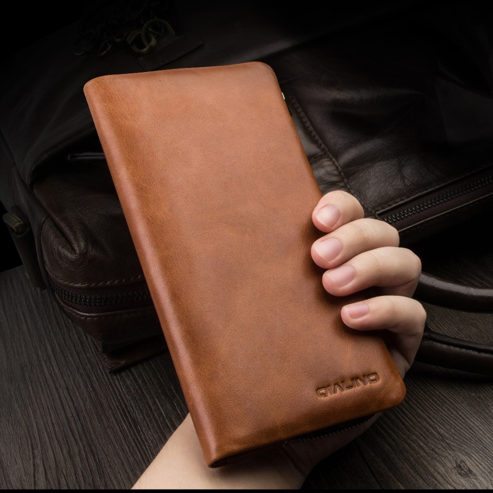 Wallet Case For Samsung Galaxy S10/S9/S8 PlusMulti-functional Genuine Leather Wallet Pouch Case Bag For Galaxy S10E/S7 Edge Case