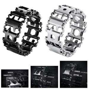 Image 1 - EDC 29 In 1 Multi function Tread Bracelet Tool Wearable Strap Screwdriver Outdoor Survival Emergency Kit Multi Wtach Chain
