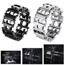 EDC 29 In 1 Multi funktion Lauffläche Armband Werkzeug Tragbare Strap Schraubendreher Outdoor Survival Notfall Kit Multi Wtach Kette