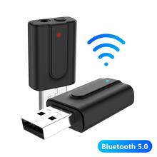 100Mbps 2 in 1 3.5mm AUX USB Wireless Bluetooth 5.0 Audio Transmitter Receiver Adapter Bluetooth Receiver Bluetooth Transmitter bluetooth 4 2 receiver 3 5mm vehicle wireless bluetooth adapter bluetooth audio frequency receiver usb automobile aux