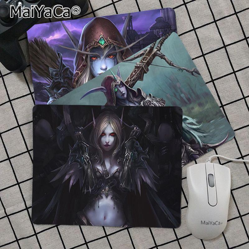 Maiya High Quality World Of Warcraft Sylvanas Durable Rubber Mouse Mat Pad Top Selling Wholesale Gaming Pad Mouse