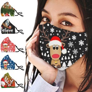 Christmas Face Mask PM2.5 Breathable Print Mouth Mask Unisex Face Mask Reusable Washable Earloop Mask Protect Mouth-muffle #LR2