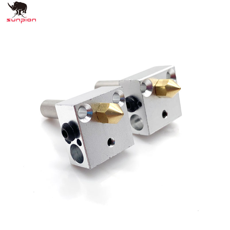 1Pcs 3D Printer Mk8  Heating Block MK8 Extruder Hot End Kit  MK8 0.4mm Nozzle Extruder  Heater Block 3D Printer Accessories