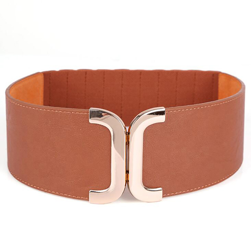 Fashion Classic Buckle Ladies Wide Belt Women's 2020 Design High Quality Female Casual Leather Belts For Shirt Dress