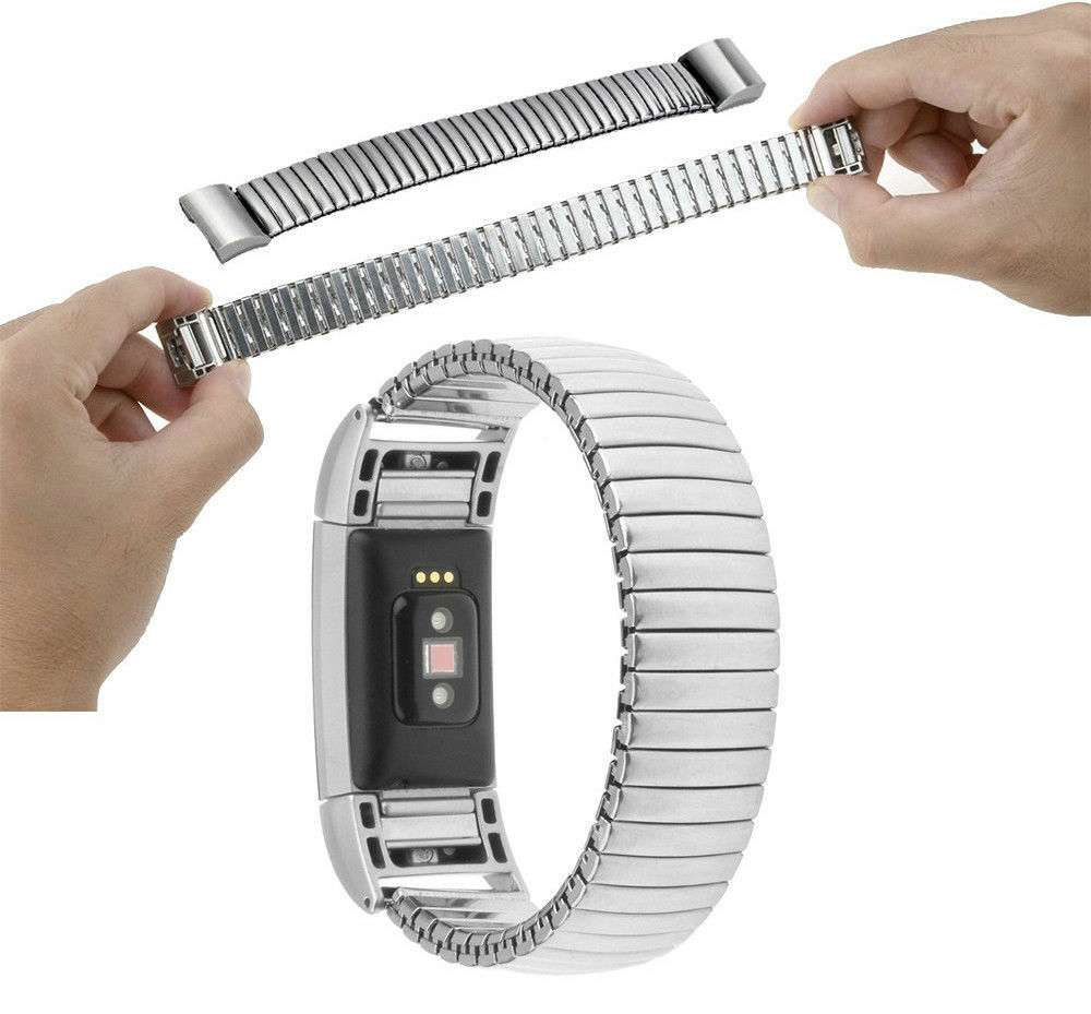 Bracelet Strap Elastic Band Stainless Steel Watchband For Fitbit Charge 2
