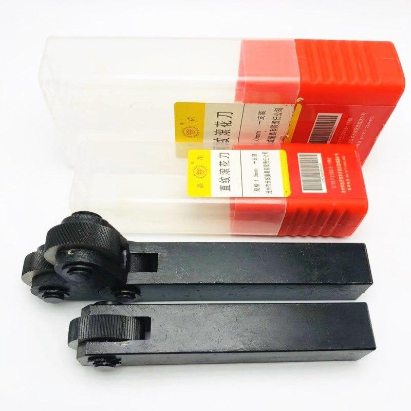 Knurling Tool 26mm HSS Double / Single Wheel Linear Pitch Knurling Set 0.4mm-3.0mm Embossing Wheel Reticulated Knurling Knife