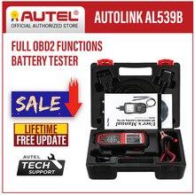 Autel AutoLink AL539B OBD2 الماسح الضوئي السيارات رمز القارئ OBDII أداة تشخيص جهاز اختبار بطارية اختبار الكهربائية أدوات السيارات OBD II