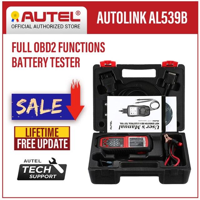Autel AutoLink AL539B OBD2 Scanner Auto Code Reader OBDII Diagnostic Tool Battery Tester Electrical Test Automotive Tools OBD II