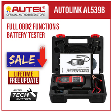 Autel AutoLink AL539B OBD2 Scanner Leitor de Código de Auto OBDII Ferramenta de Diagnóstico Testador de Bateria De Teste Elétrico Ferramentas Automotivas OBD II