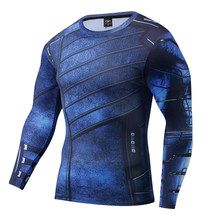 X Man Comic 3D tshirt Basic Long Sleeve Wolf Pattern Charm Man Sweatshirt Muscle GYM cloth Avengers 4 Fantastic Four Casual Tee(China)