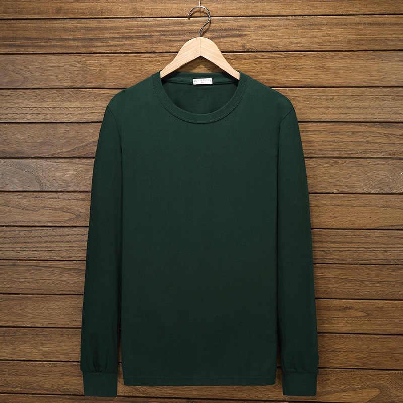 남성 t-셔츠 긴 소매 Undrewear 봄 가을 플러스 크기 큰 티셔츠 코 튼 8XL 10XL 홈 Tshirt 탑 54 56 58 60 62 64 66