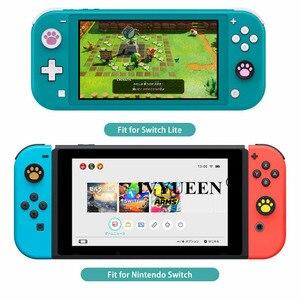 Image 5 - IVYUEEN 4 pcs Silicone Thumb Grips Cover for Nintendo Switch NS Lite Joy Con Analog Stick Caps Skin for JoyCon Joystick Grip