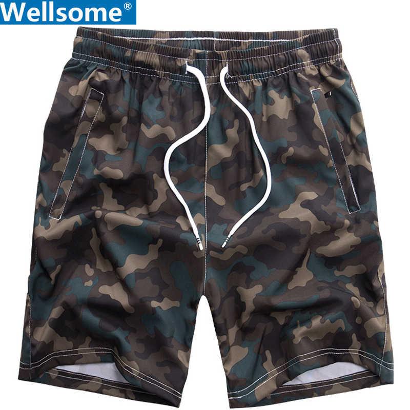 Sommer Shorts Männer camouflage Boardshorts herren Atmungsaktive Elastische Taille badehose männlich Plus Size Strand Kurze herren Bermudas Masculina