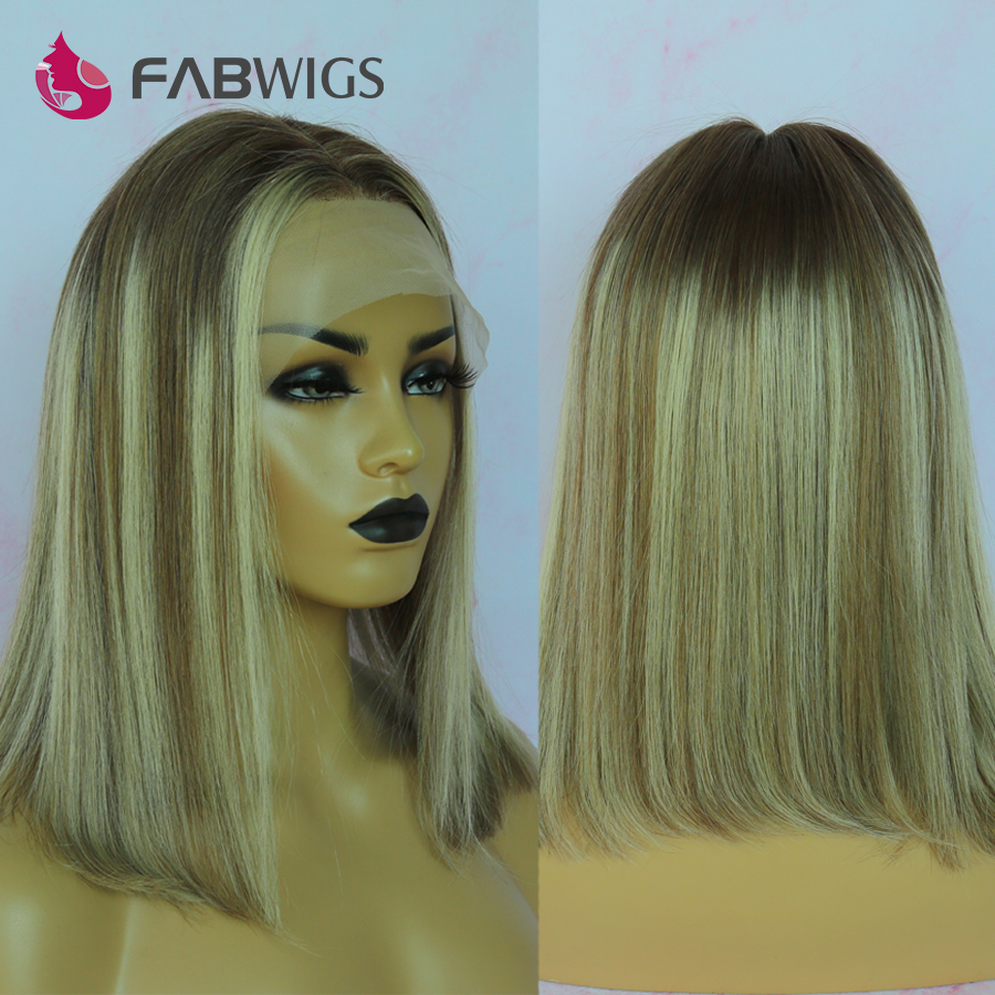 Fabwigs Highlight 7/7/24 Cami Color BOB Wigs Lace Front Human Hair Wigs Ombre Blonde Short BoB Wigs Transparent Lace Wigs Remy