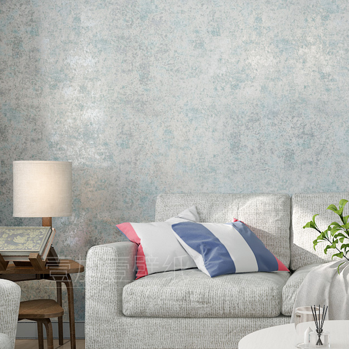 American Vintage Wallpaper Nostalgic Style Simple Plain Color Non-woven Wallpaper Bedroom Living Room Television Background Wall