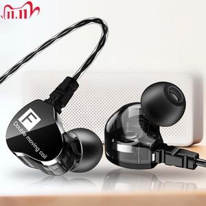 Image 1 - Fonge F4 filaire écouteur basse lourd double pilote stéréo HIFI écouteurs Sport musique écouteurs avec micro pour Smartphone Accessoris