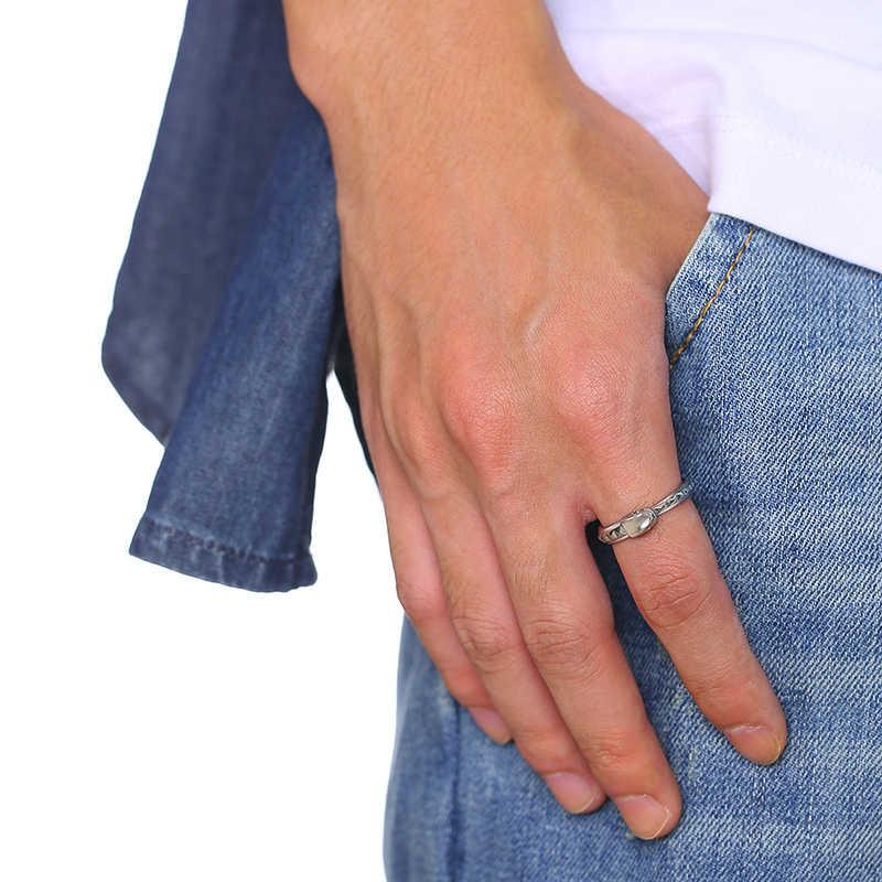Vnox stylowy pierścień wąż dla kobiet nigdy nie znikną pierścień ze stali nierdzewnej kształt zwierząt fajna biżuteria