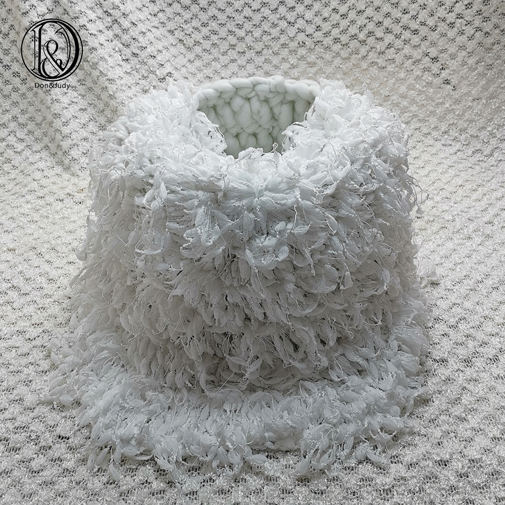 Don&Judy Hand Crochet Round Diameter 50cm Blanket + Basket +150x100cm Backdrop Background Set For Newborn Photography Baby Prop